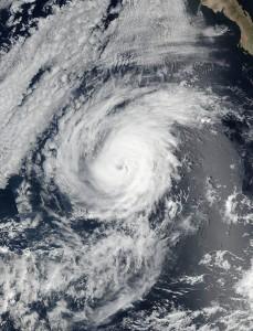 Aerial view of Hurricane Matthew