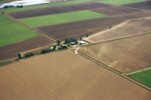 arial view of farm land