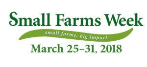 Small Farms Week logo with 2018 dates