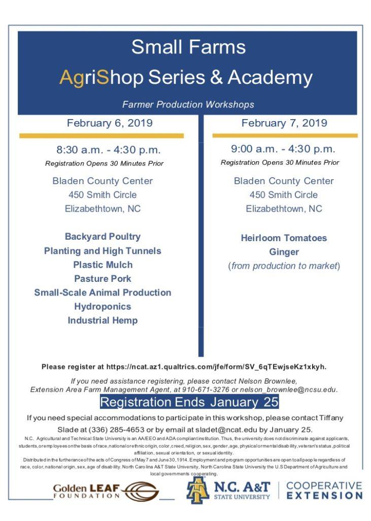 Regional Workshops to Benefit Small Farmers | North Carolina