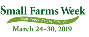 Small Farms week Banner with 2019 dates