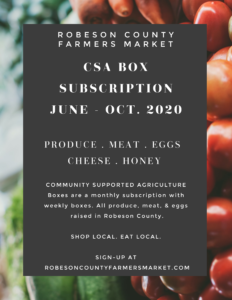 FLier for Farmers Market CSA program