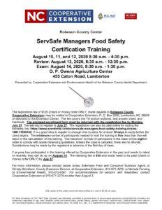 ServSafe information flier