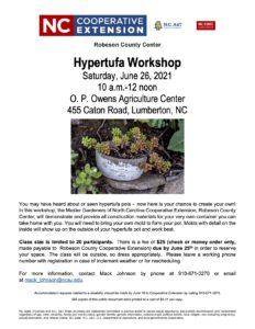 Cover photo for Hypertufa Workshop
