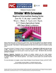 Cover photo for Stitchin' With Extension